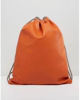 Exclusive Burnt Orange Tumbled Drawstring Kit Bag