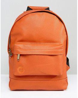 Burnt Orange Tumbled Mini Classic Backpack