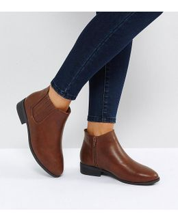 Leather Look Ankle Boot