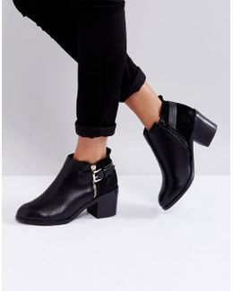 Academy Buckle Ankle Boots
