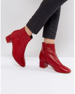Aphid Leather Ankle Boots