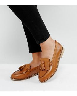 Maxwell Wide Fit Leather Loafers