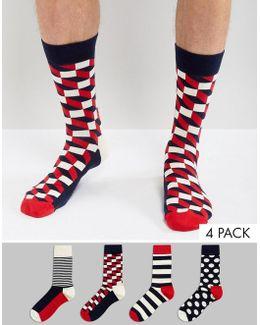 Gift Set 4 Pack Socks