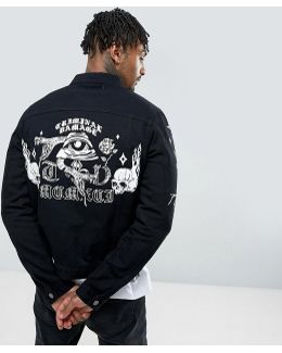 Denim Jacket With Back Print