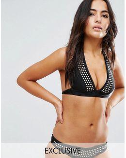 Studded Bikini Top A-f Cup
