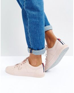 Canvas Sneaker With Ribbon Lace Detail