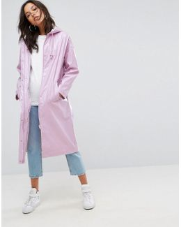 Vinyl Maxi Rain Trench Coat