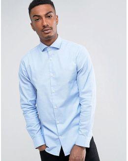 Slim Shirt With Cutaway Collar