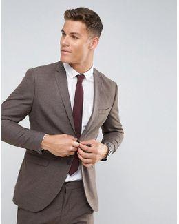 Slim Suit Jacket In Texture
