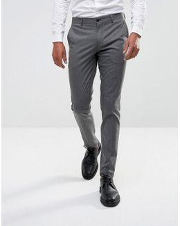 Skinny Smart Pants In Dogstooth