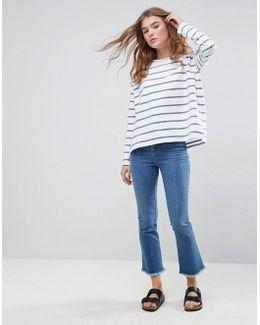 Stripe T-shirt In Baby Loop Back