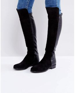 Trish Suede Flat Over Knee Boots