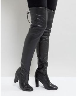 Sybil Leather Over Knee Boots