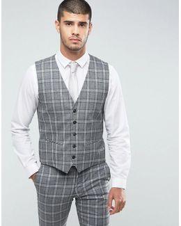 Slim Vest In Salt N Pepper Check