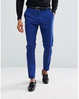 Skinny Tuxedo Suit Pants