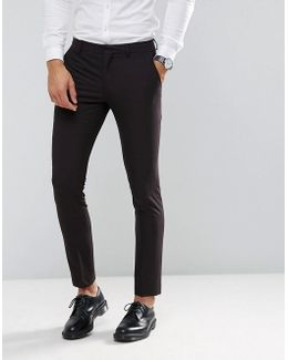 Skinny Tuxedo Suit Pant With Satin Lapel