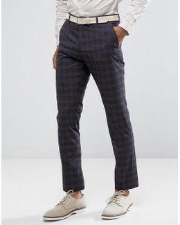 Slim Suit Pant In Check