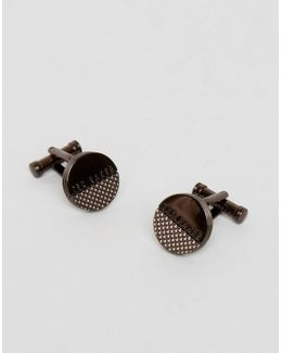 Texture Cufflinks In Brown
