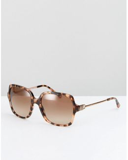 Square Sunglasses In Pink Tort
