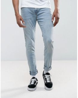 Super Skinny Jeans In Light Wash Blue