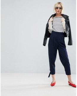 Tapered Trouser With Strapping D Ring Ankle Detail