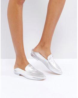 Buijana Silver Slip On Loafers
