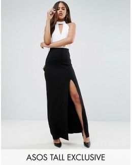 Maxi Skirt With Split Front