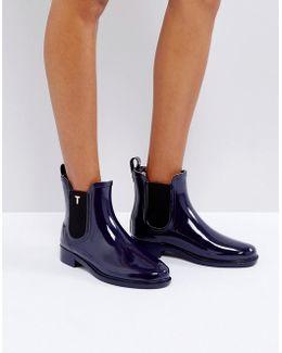 Lyran Navy Chelsea Wellington Boots