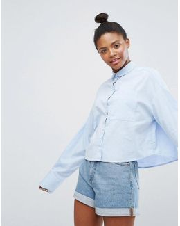 Extra Long Sleeve Chambray Shirt