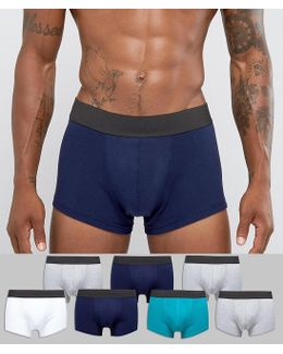 Hipster In Multi Colors With Black Waistband 7 Pack