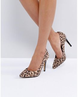 Allice Leopard Print Pointed Court Shoes