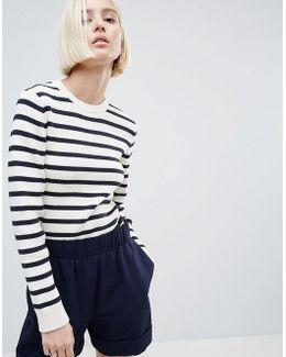 Bluefield Striped Knit Sweater