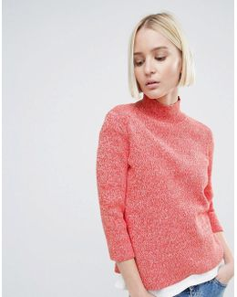 Michi Rib High Neck Sweater