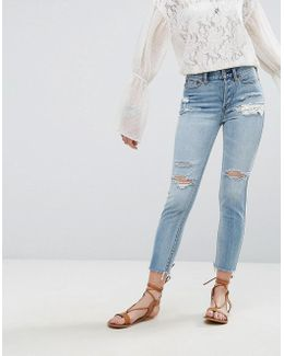 Lacey Stilt Distressed Jean