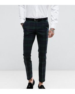 Super Skinny Suit Trousers In Check