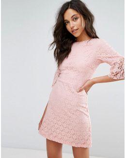 Lace Mini Shift Dress