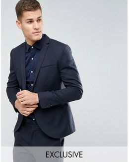 Slim Wedding Suit Jacket In Linen