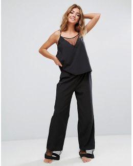 Caitlin Top And Pant Pajama Set