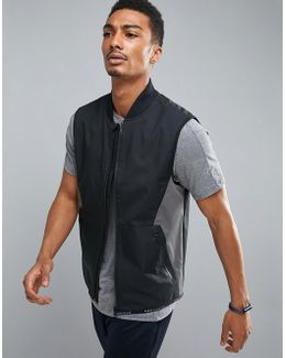 360 Running Vest Bonded Thermal In Black