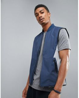 360 Running Vest Bonded Thermal In Navy