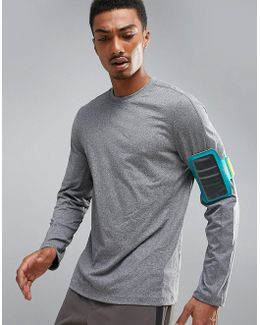 360 Sports Long Sleeve Top In Grey Marl