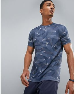 360 Sports T-shirt Linear Camo Print In Navy
