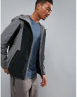 360 Running Challenger Jacket Packable In Grey/black