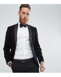 Super Skinny Blazer In Velvet