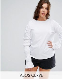 Top With Double Puff Sleeve Detail