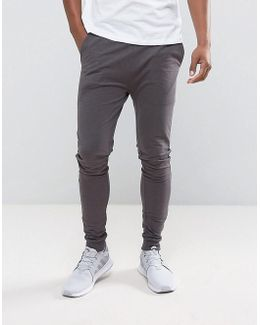 Extreme Super Skinny Joggers In Charcoal Marl