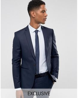 Super Skinny Suit Jacket In Navy