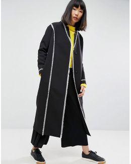 Frayed Seam Overcoat