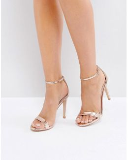 Stecy Rose Gold Heeled Sandals