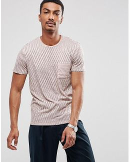 T Shirt With Contrast Pocket